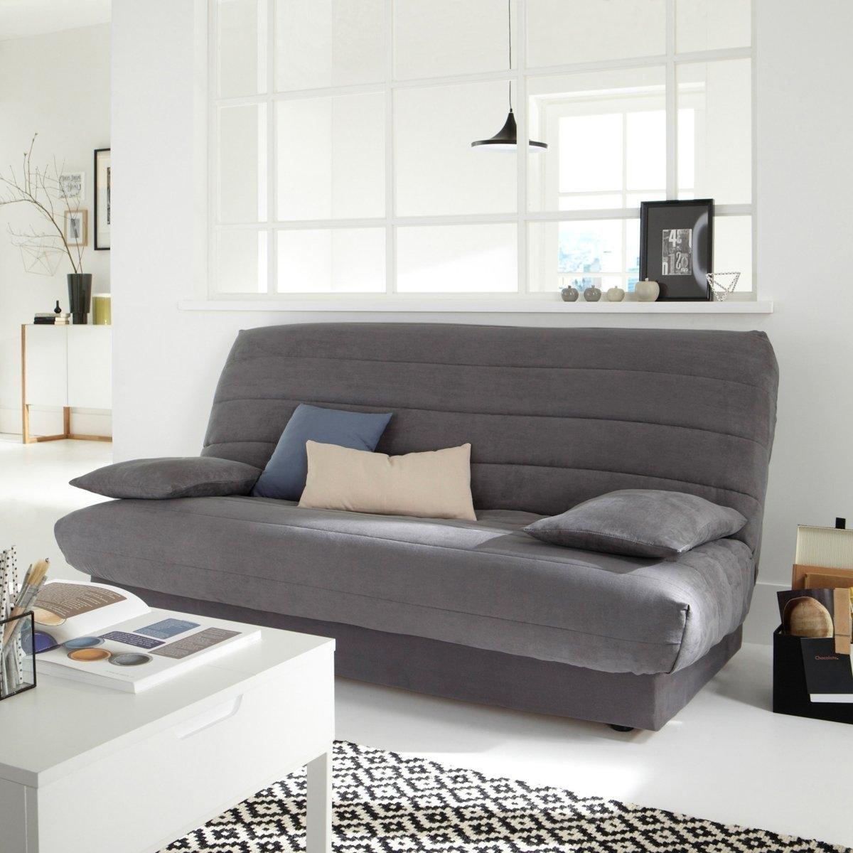 цена на Чехол La Redoute Для раскладного дивана из искусственной замши единый размер серый