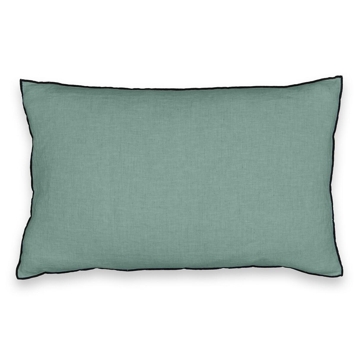 Чехол La Redoute На подушку 100 стираный лен ELina 60 x 40 см зеленый чехол la redoute на подушку chivy 50 x 30 см красный