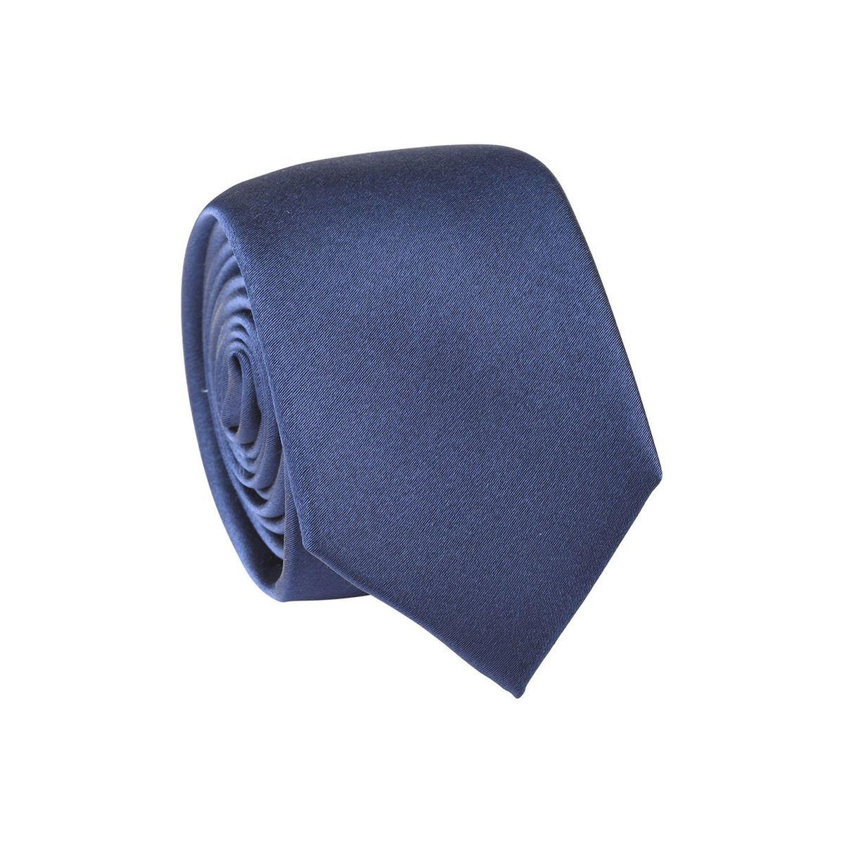 Cravate homme unie satin Bleu marine