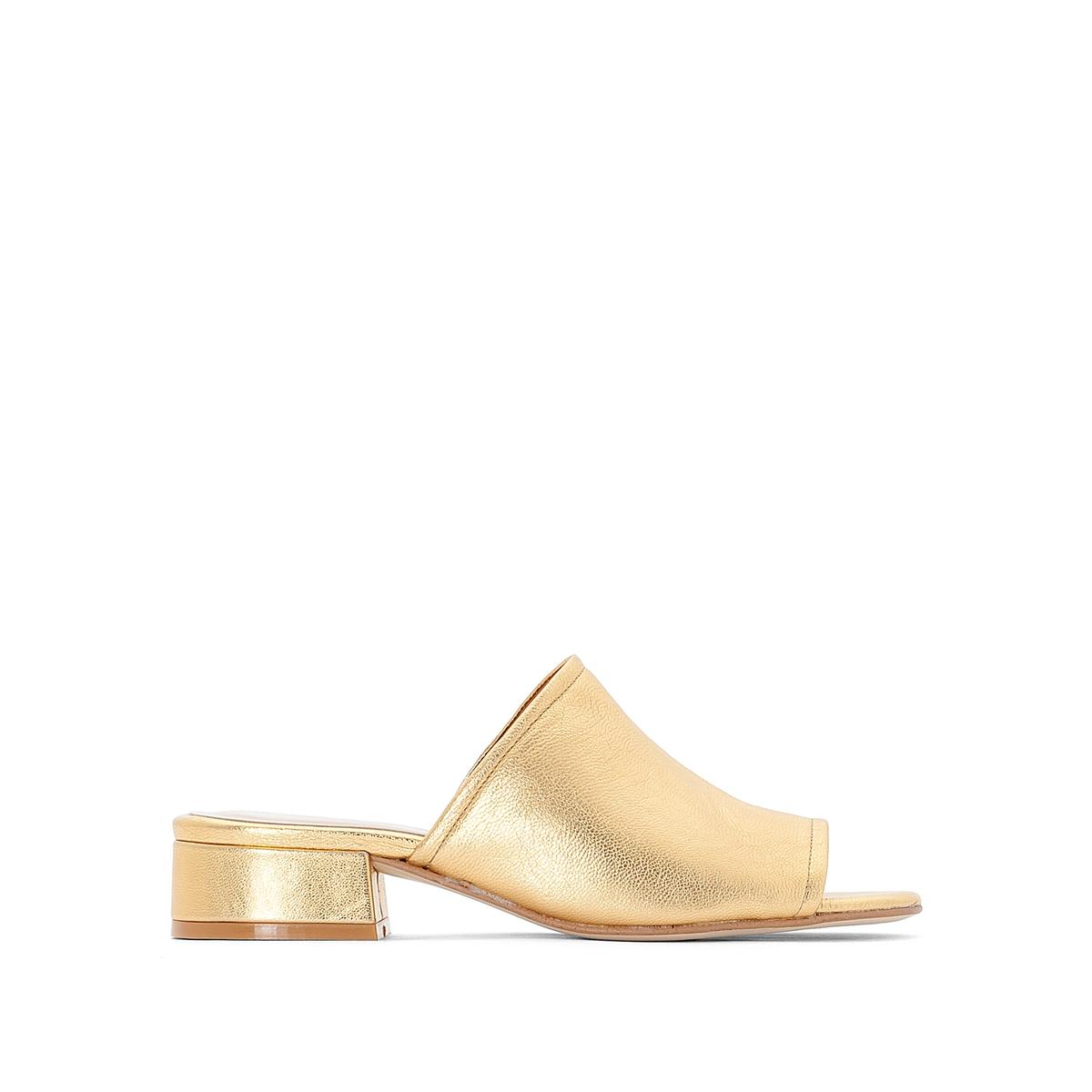 Туфли без задника кожаные Daeva