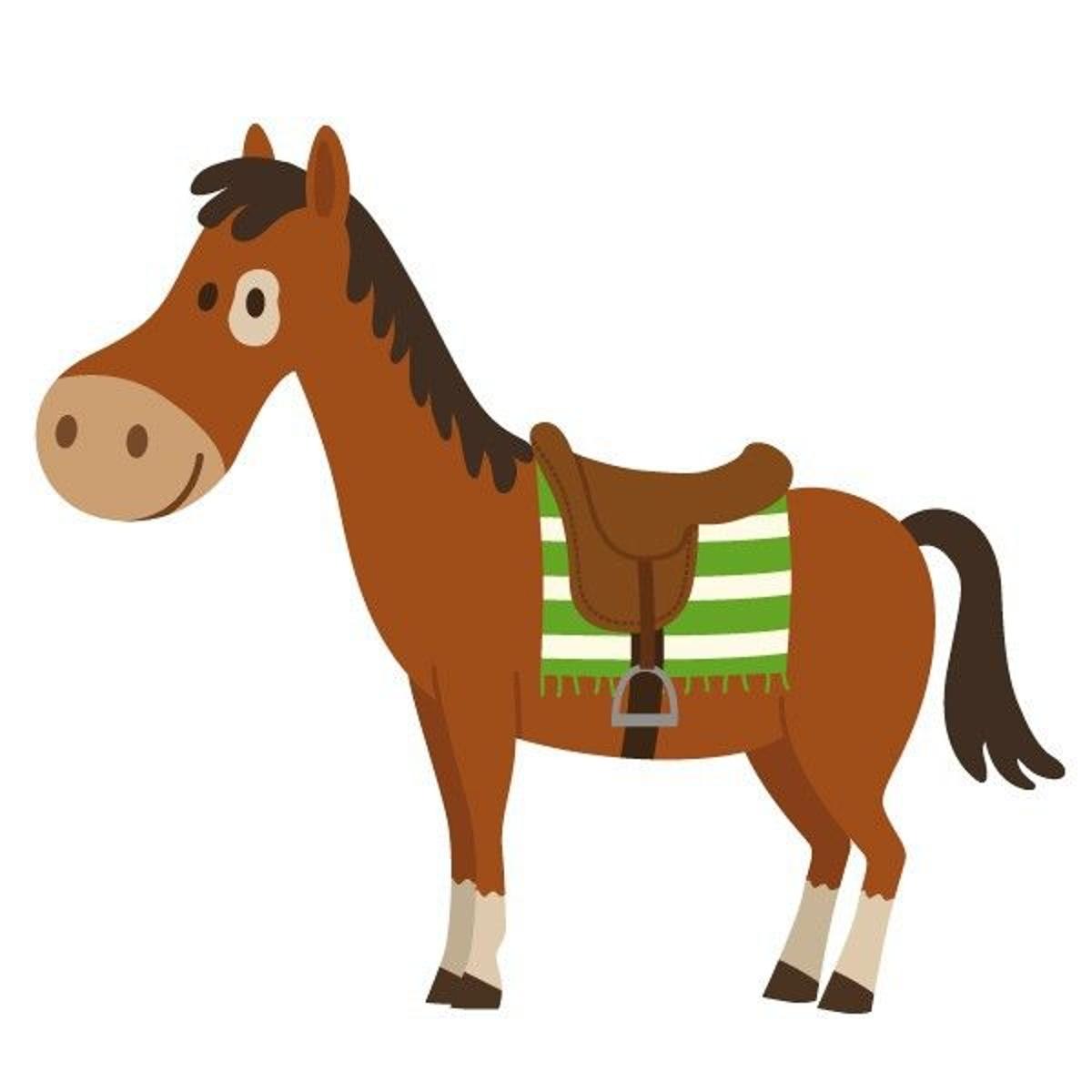 Sticker cowboy : cheval rouge