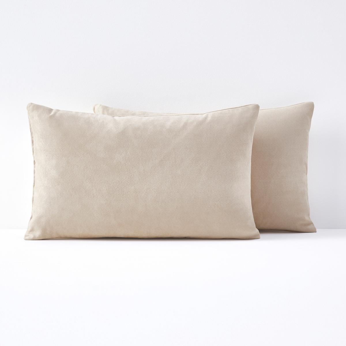Комплект из 2 чехлов на подушку-валик из искусственной замши KALA цены онлайн