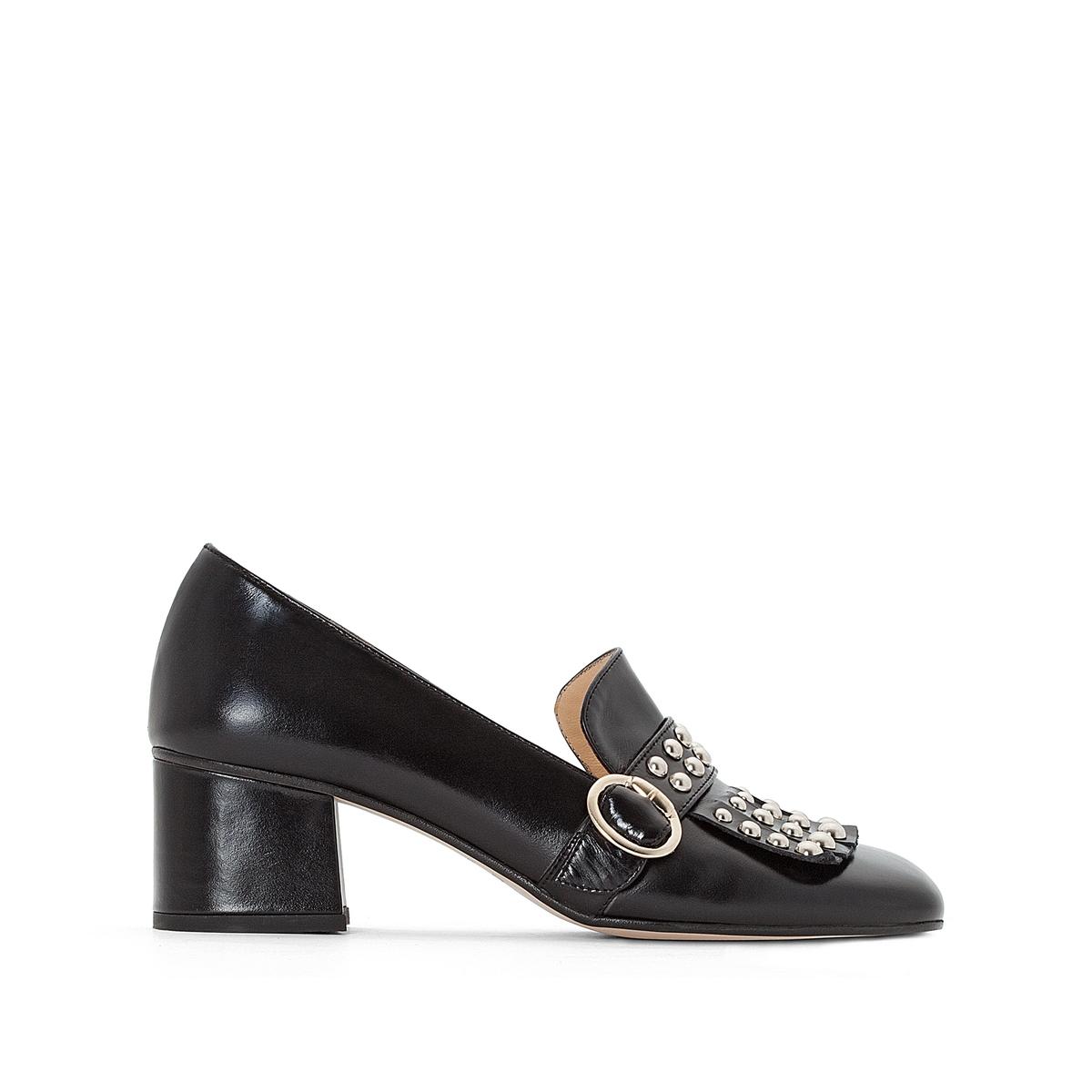 Туфли кожаные на широком каблуке, Victoire цены онлайн