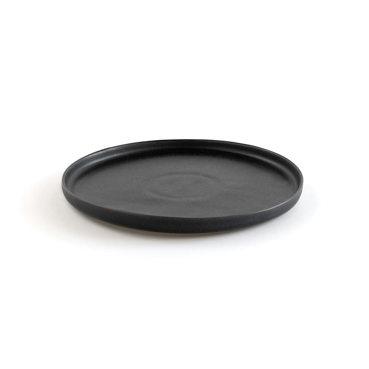 Комплект из 4 тарелок плоских La Redoute Из эмалированной керамики Perrot единый размер черный миски la redoute из эмалированной керамики attale единый размер каштановый