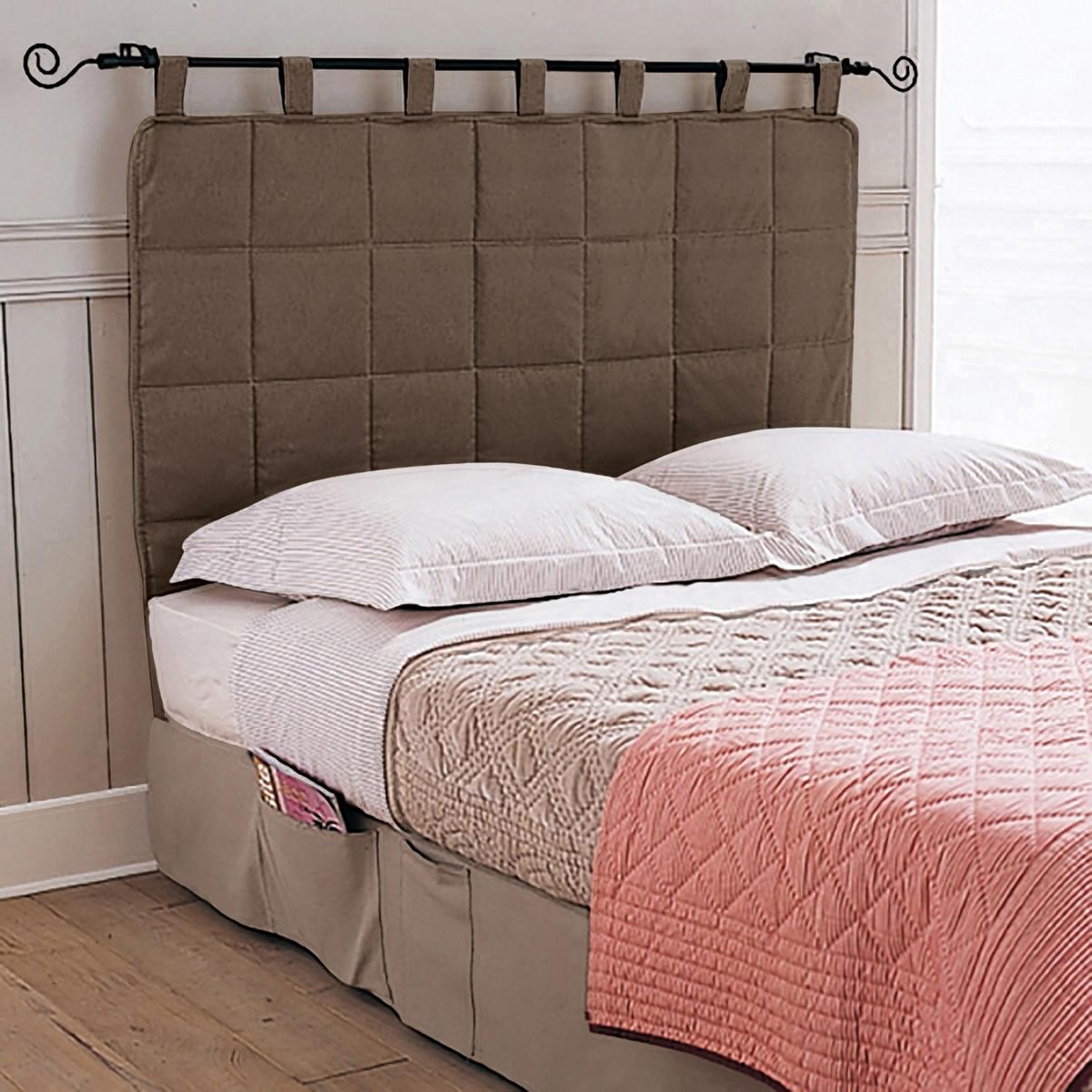 Панель для изголовьяСтеганая панель для изголовья кровати элегантно дополнит интерьер Вашей спальни. Ткань из 80% хлопка, 20% полиэстера. 5 стильных цветов на выбор. Высота 90 см (из них 10 см - шлевки). Стирка при 40°.<br><br>Цвет: серо-коричневый каштан<br>Размер: 160 x 100 см