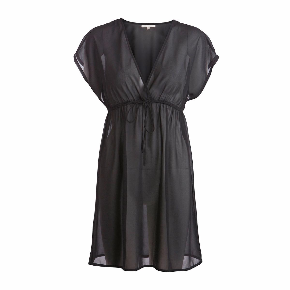 Платье PCTRUDA SS KAFTANПлатье  PCTRUDA SS KAFTAN . Платье расклешенное свободного покроя.  Струящийся полупрозрачный материал в этническом стиле. Короткие рукава.  Шнурок на завязках под грудью. Состав и описание:Материал: 100% полиэстер.Марка: -.<br><br>Цвет: черный