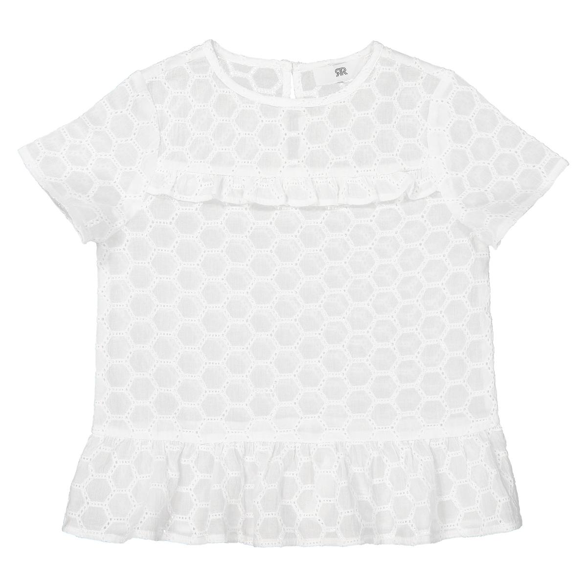Blusa bordada, 3-12 anos