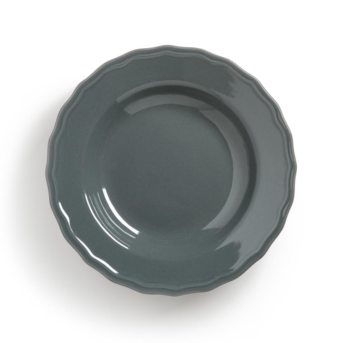 4 тарелки глубокие с отделкой фестоном, Ajila4 тарелки глубокие с отделкой фестоном Ajila . Завтрак, обед или ужин, La Redoute Int?rieurs Вас приглашает к столу.Характеристики 4 тарелок глубоких с отделкой фестоном Ajila  :- Из фаянса, зубчатая кромка.- Диаметр 20,5 см  .- Можно использовать в посудомоечных машинах и микроволновых печах.Плоские, десертные тарелки, чашки, кружки и блюдца Ajila продаются на нашем сайте.<br><br>Цвет: темно-серый