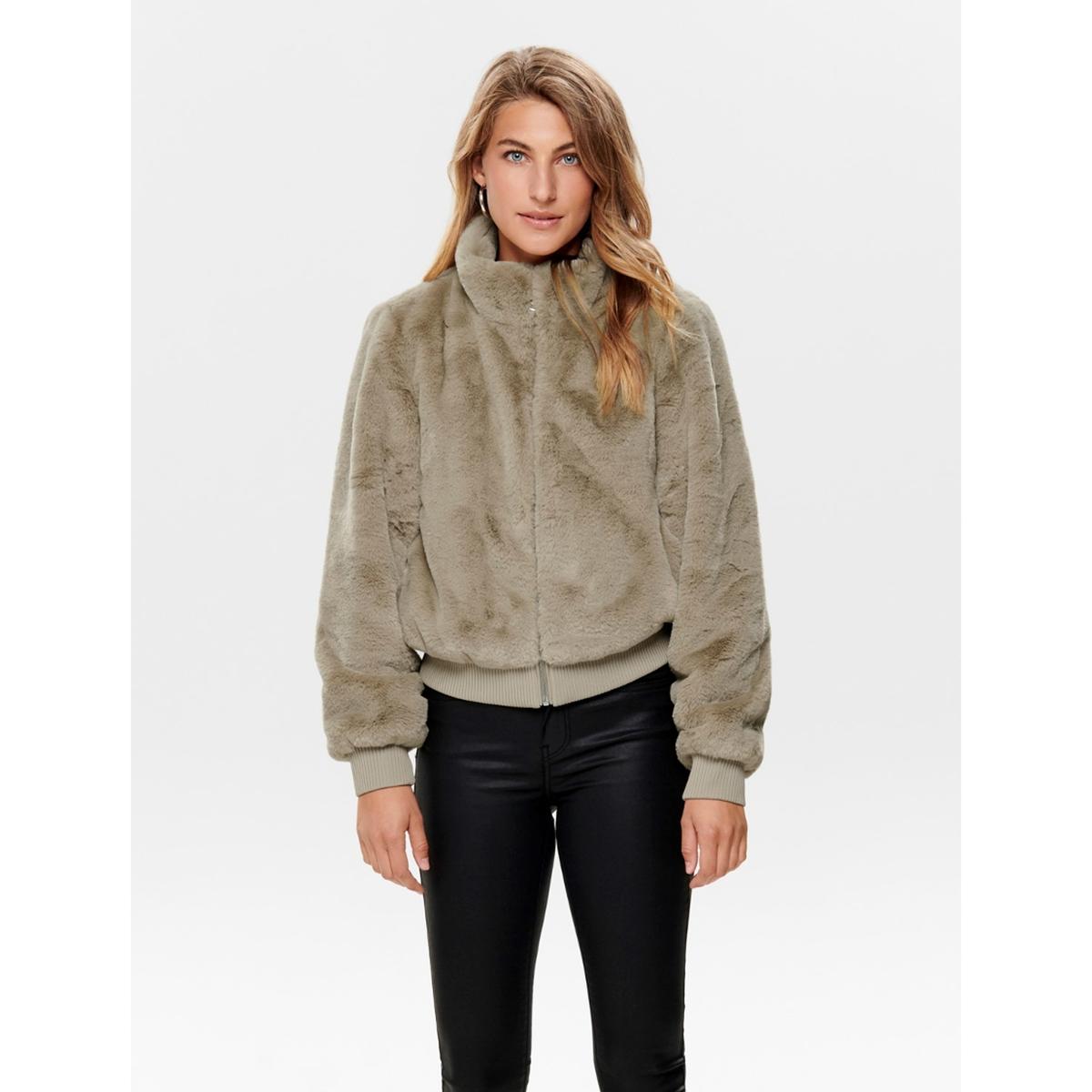 Куртка La Redoute Короткая с воротником-стойкой из искусственного меха XS бежевый lbellagiovanna redfushia белый бежевый xs