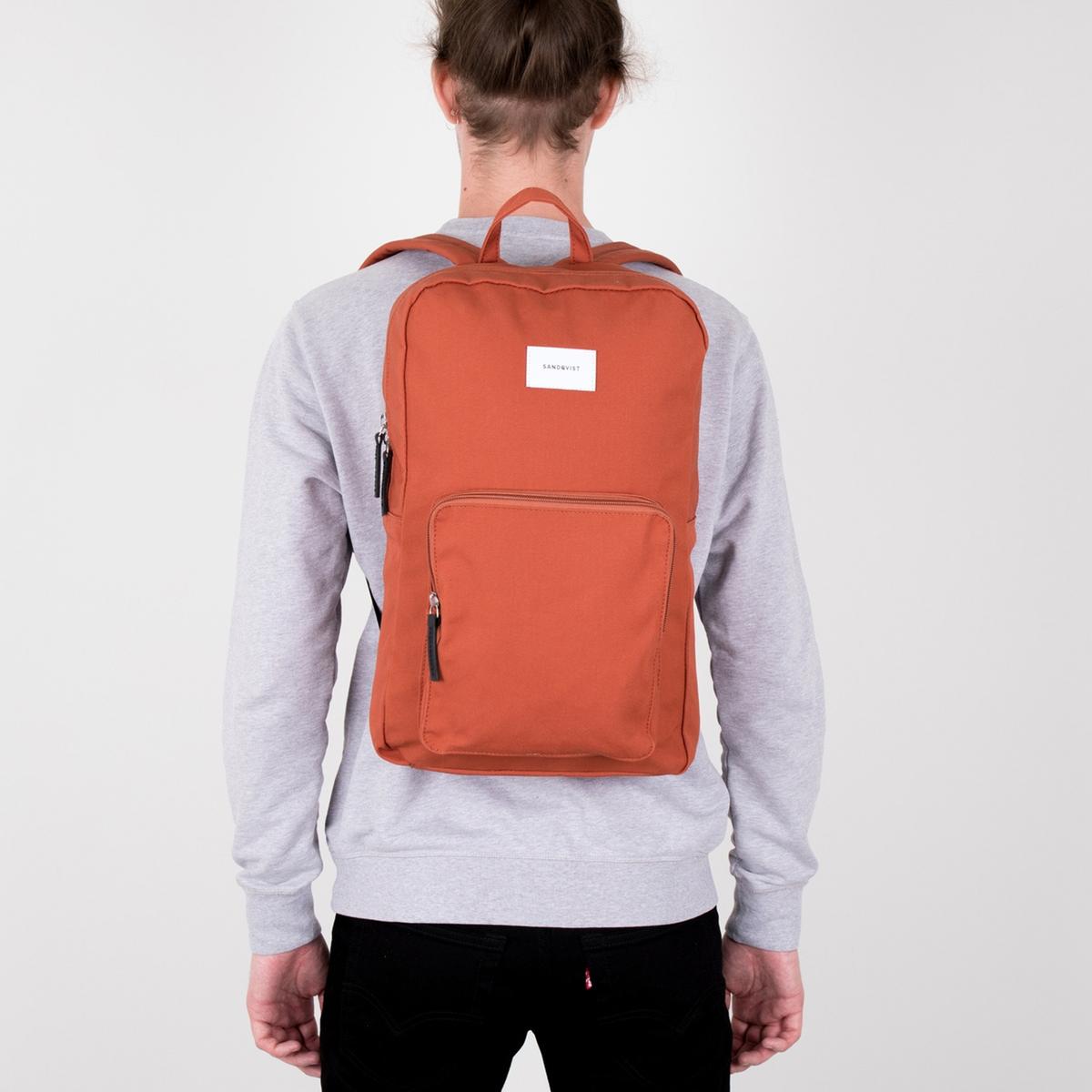 Рюкзак La Redoute Для ноутбука на молнии дюймов KIM единый размер оранжевый ботильоны la redoute кожаные на молнии размеры 26 каштановый