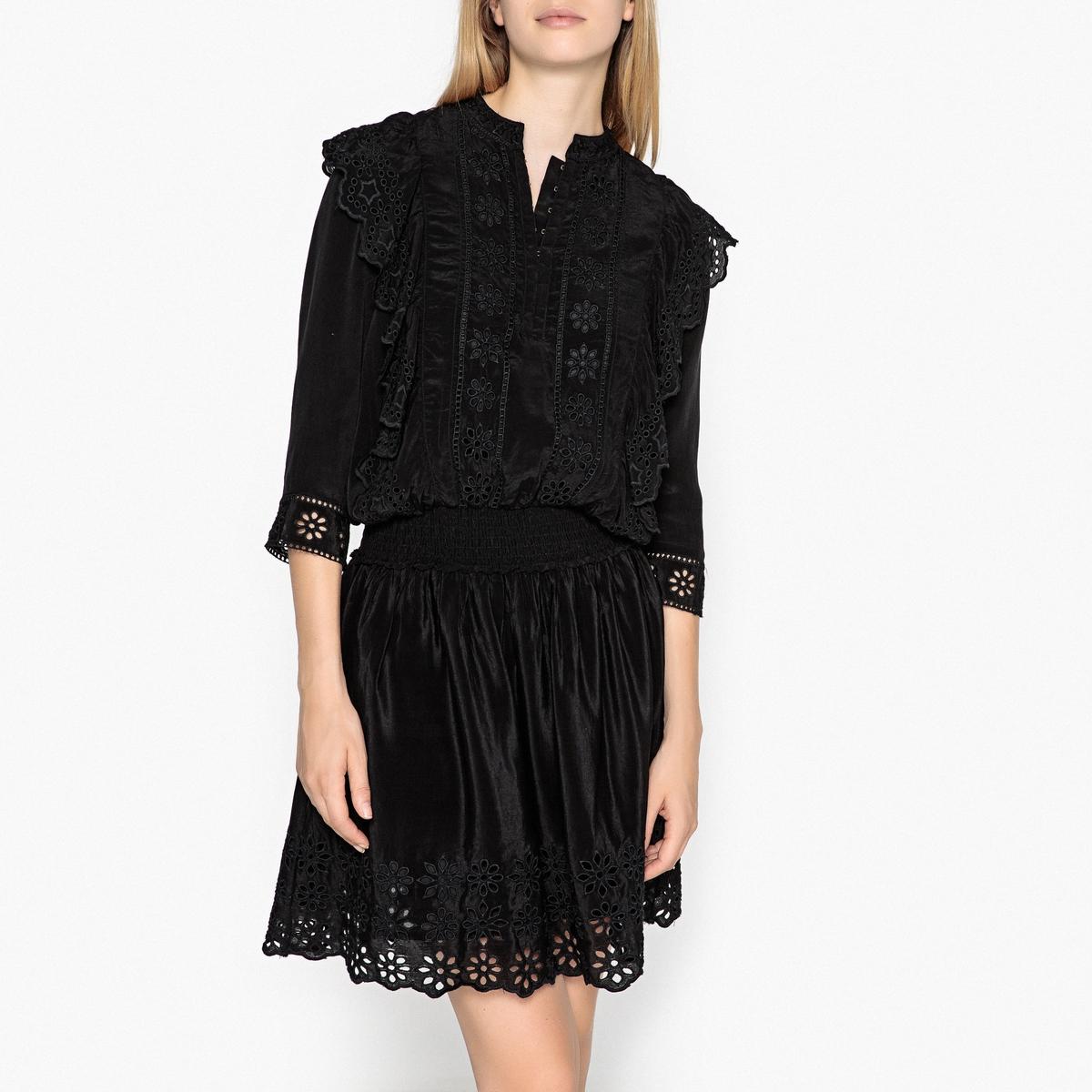 Платье короткое расклешенное с рукавами 3/4 платье короткое с рукавами 3 4