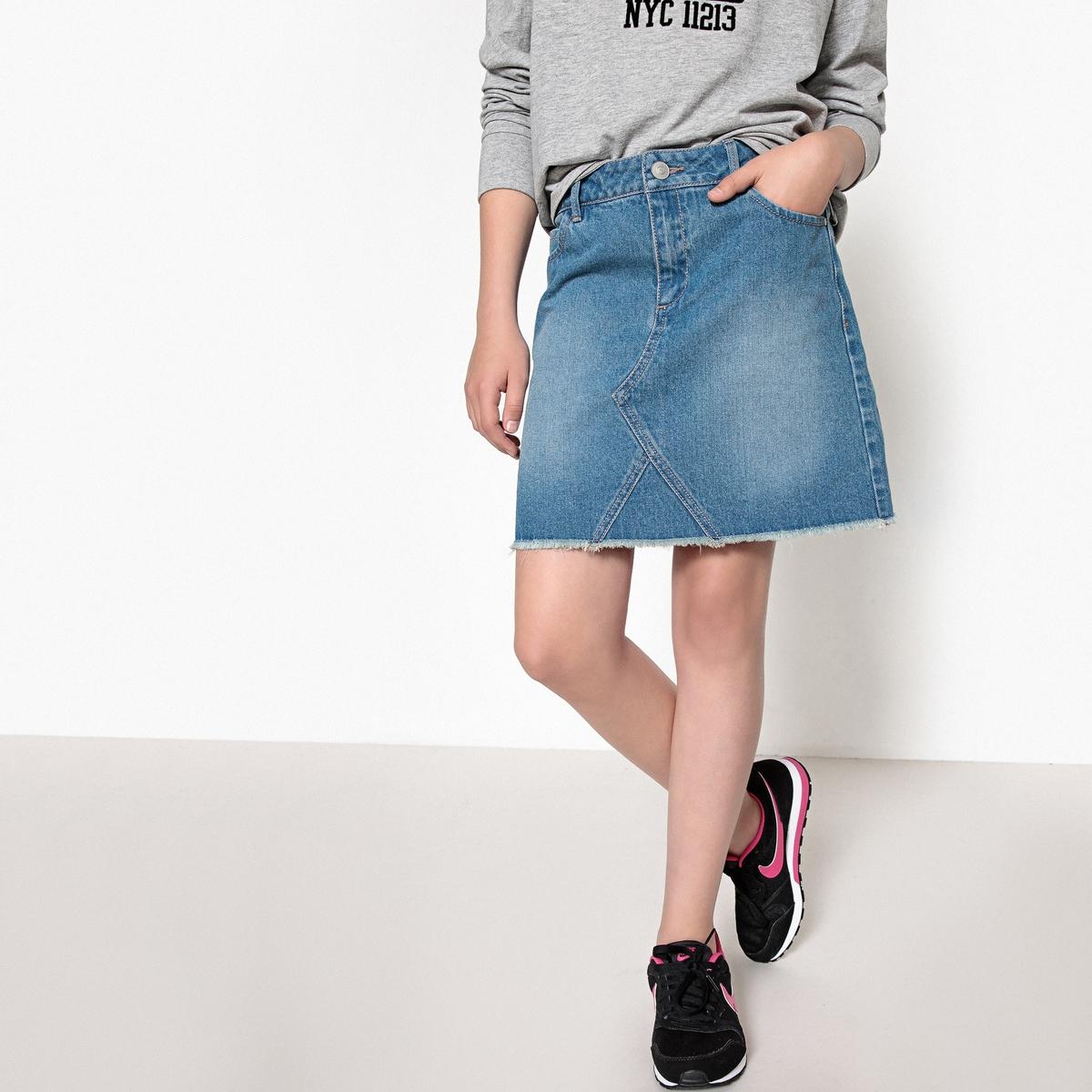 Юбка прямая джинсовая, 10-16 лет