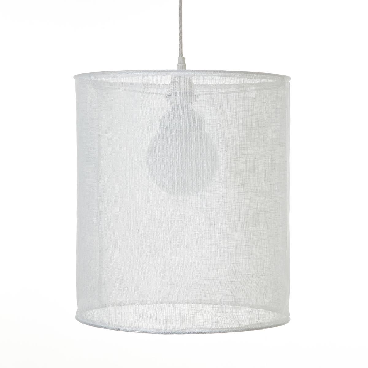 Светильник ?35 x 40 см, HolorimeСветильник Holorime. Светильник стильной цилиндрической формы из льняной  вуали для создания приглушенного света. Из 100% льняной вуали. Для  патрона E27. Совместим с электрическим кабелем Sevigni, продающимся на  нашем сайте . Размеры : ?35 x H40 см .<br><br>Цвет: белый<br>Размер: единый размер