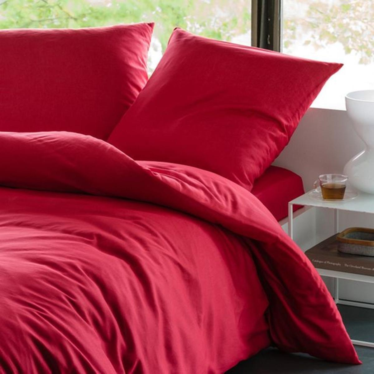 parure housse de couette taie uni. Black Bedroom Furniture Sets. Home Design Ideas