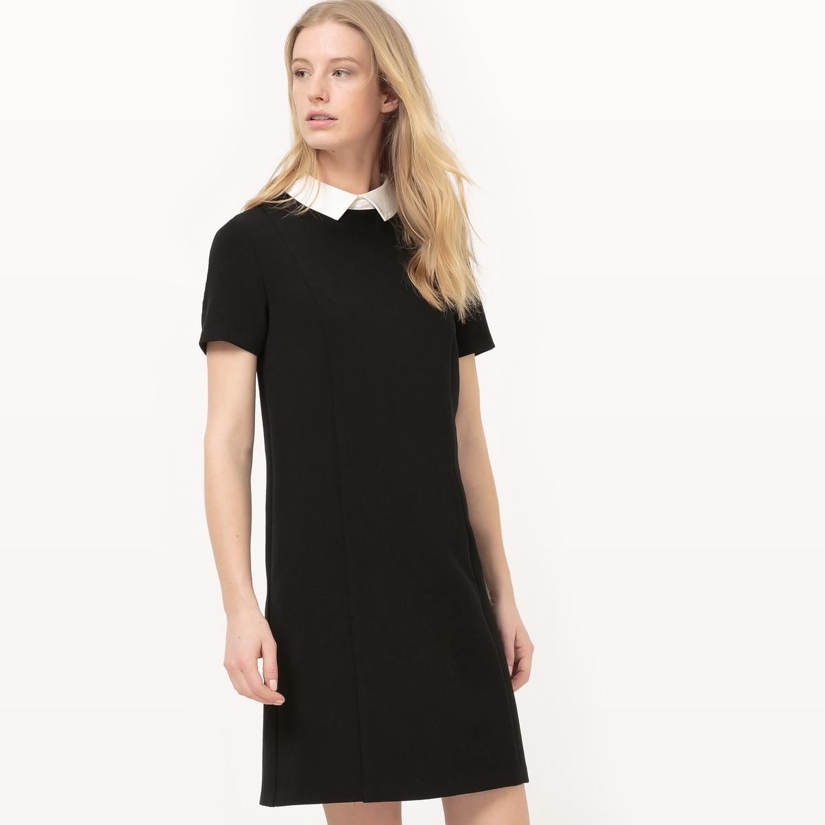 Платье-футляр с контрастным воротником платье футляр