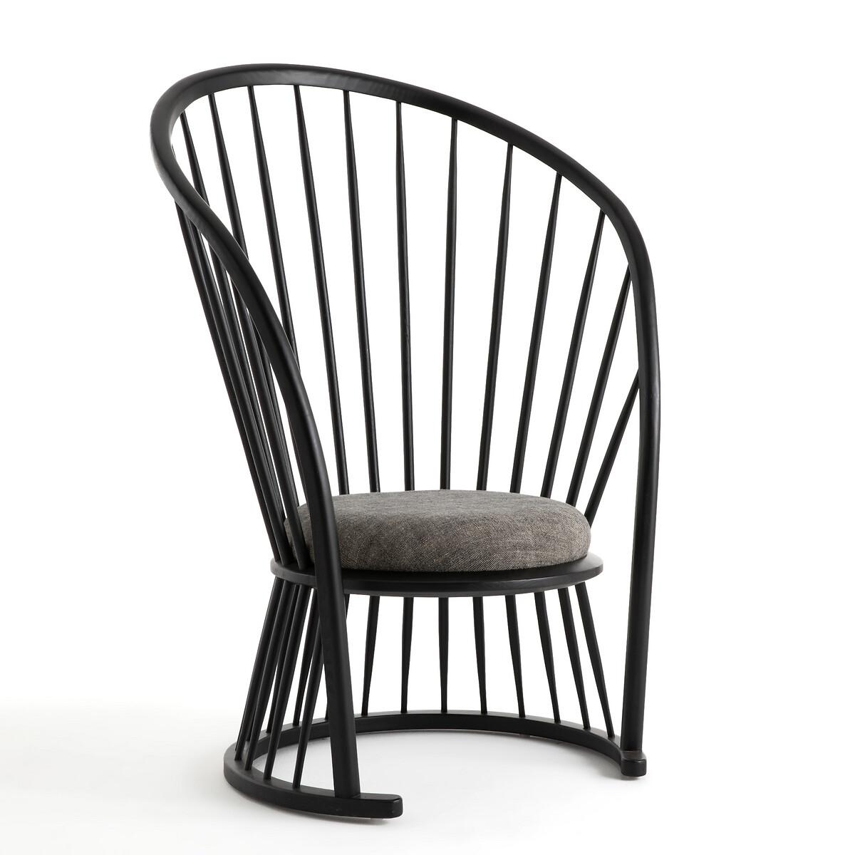 Кресло LaRedoute Raggi высокое черное дизайн Э Галлина единый размер черный