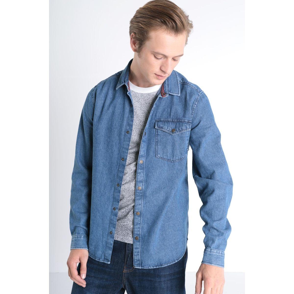 Chemise manches longues jean