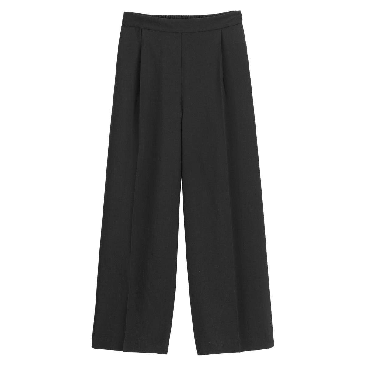 Falda pantalón ancha de crepé