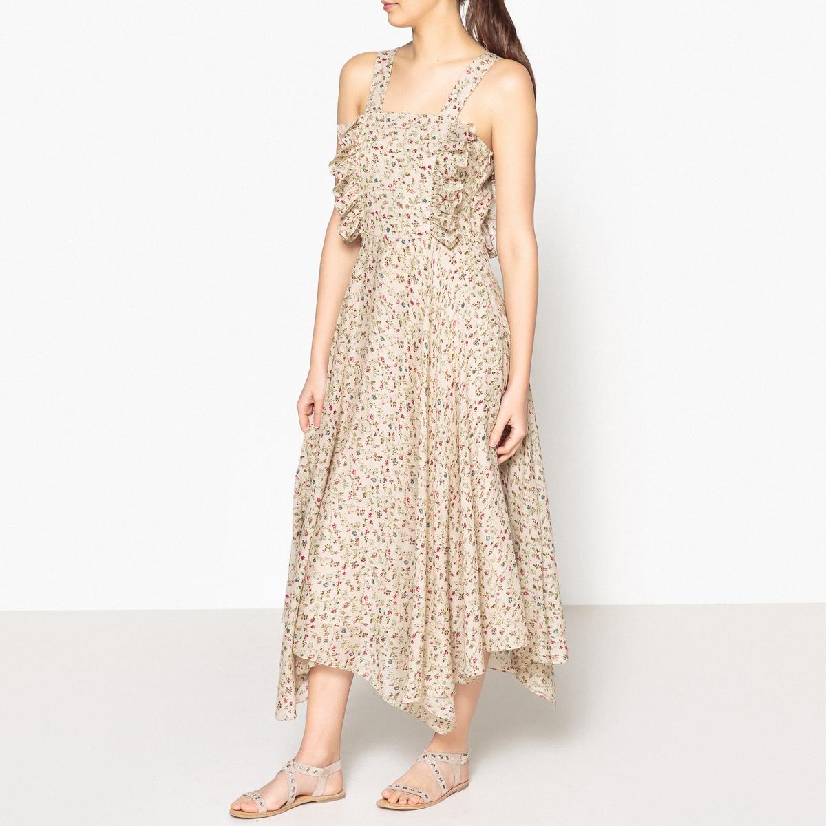 Платье длинное с рисунком на тонких бретелях GARLIC от LAURENCE BRAS