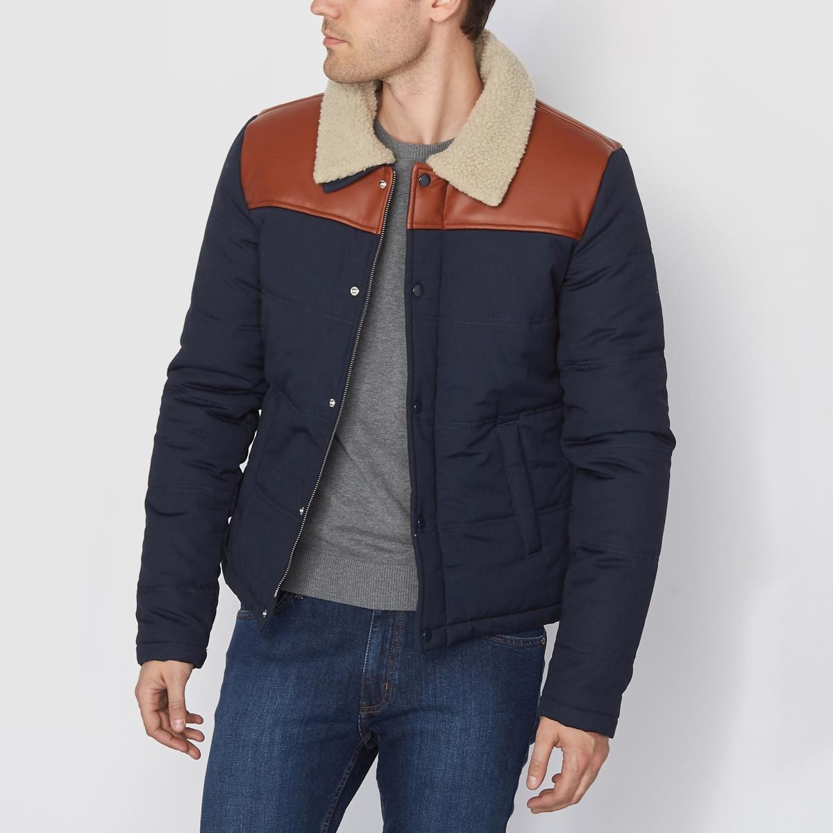 Куртка стеганаяСостав и описание :Материал : 100% хлопка.Марка : R edition<br><br>Цвет: темно-синий<br>Размер: XXL
