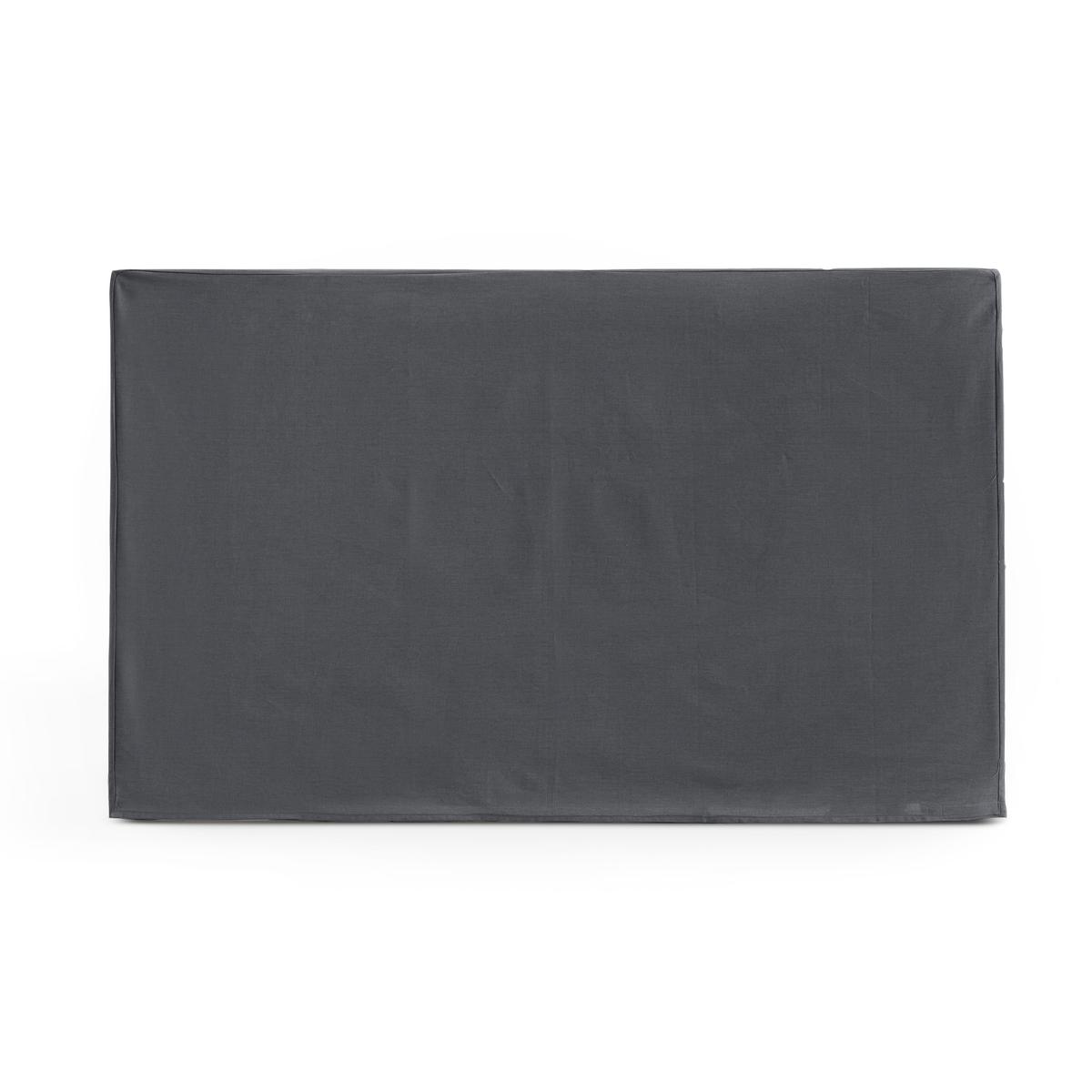 Чехол LaRedoute Для изголовья кровати прямоугольной формы из хлопка SCENARIO 90 x 85 см серый чехол laredoute для изголовья кровати stadia 100 лен высота 120 см 120 x 10 x 160 см серый