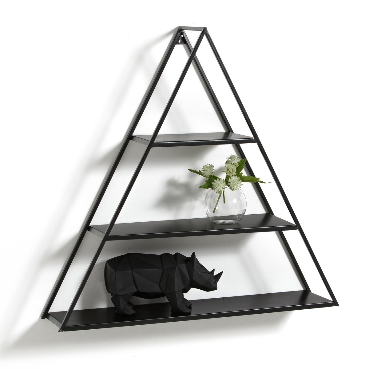 Этажерка треугольная, AFUSТреугольная этажерка, Afus. Этажерка треугольной формы оригинального графичного дизайна украсит ваши стены!Характеристики треугольной этажерки, Afus :Металл с эпоксидным покрытием Пластина для настенного крепления (шурупы и дюбели в комплект не входят)Другие модели этажерок Вы найдете на laredoute.ruРазмеры треугольной этажерки, Afus:Длина : 69 смВысота : 66,5 смГлубина : 15,5 смРазмер и вес упаковки :1 коробка73 x 19 x 71 см, 4,3 кгДоставка :Треугольная этажерка Afus продается в разобранном виде.  Возможна доставка до квартиры по предварительному согласованию!Внимание ! Убедитесь, что посылку возможно доставить на дом, учитывая ее габариты<br><br>Цвет: черный