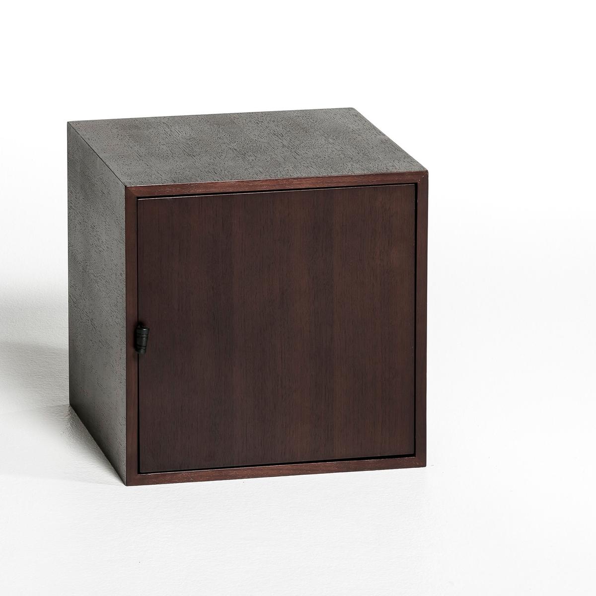 Ящик с 1 дверкой Kouzou, по дизайну Э. ГаллиныЭтот ящик с 1 дверкой подходит к этажерке Kouzou, этот комплект разработан по дизайну Эммануэля Галлины, специально для AM.PM.Характеристики:- Ящик из МДФ, фанера дуба.- Ручка из кожи.Размеры:-  Размер S: 35 x 35 x 35 см.- Размер M: 35 x 35 x 70 см.<br><br>Цвет: ореховый