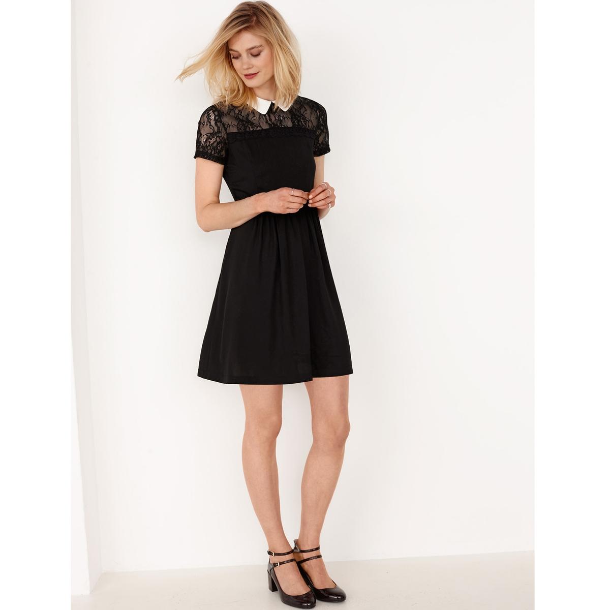 Платье из вискозы и кружева