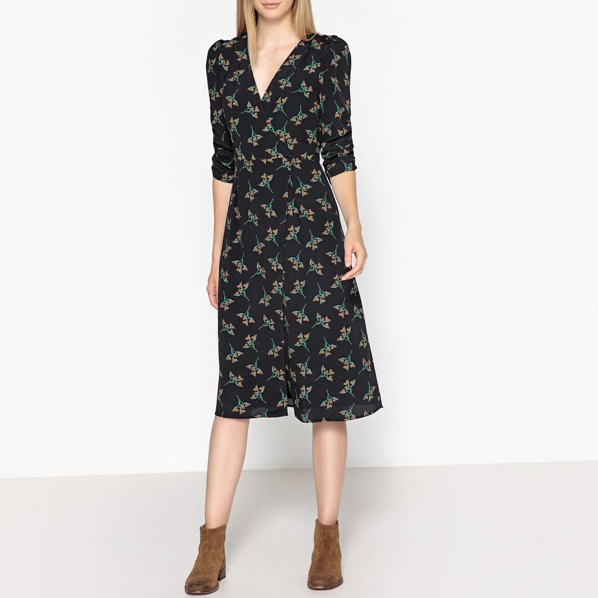 Платье расклешённое с цветочным рисунком FANNY платье футляр с цветочным рисунком