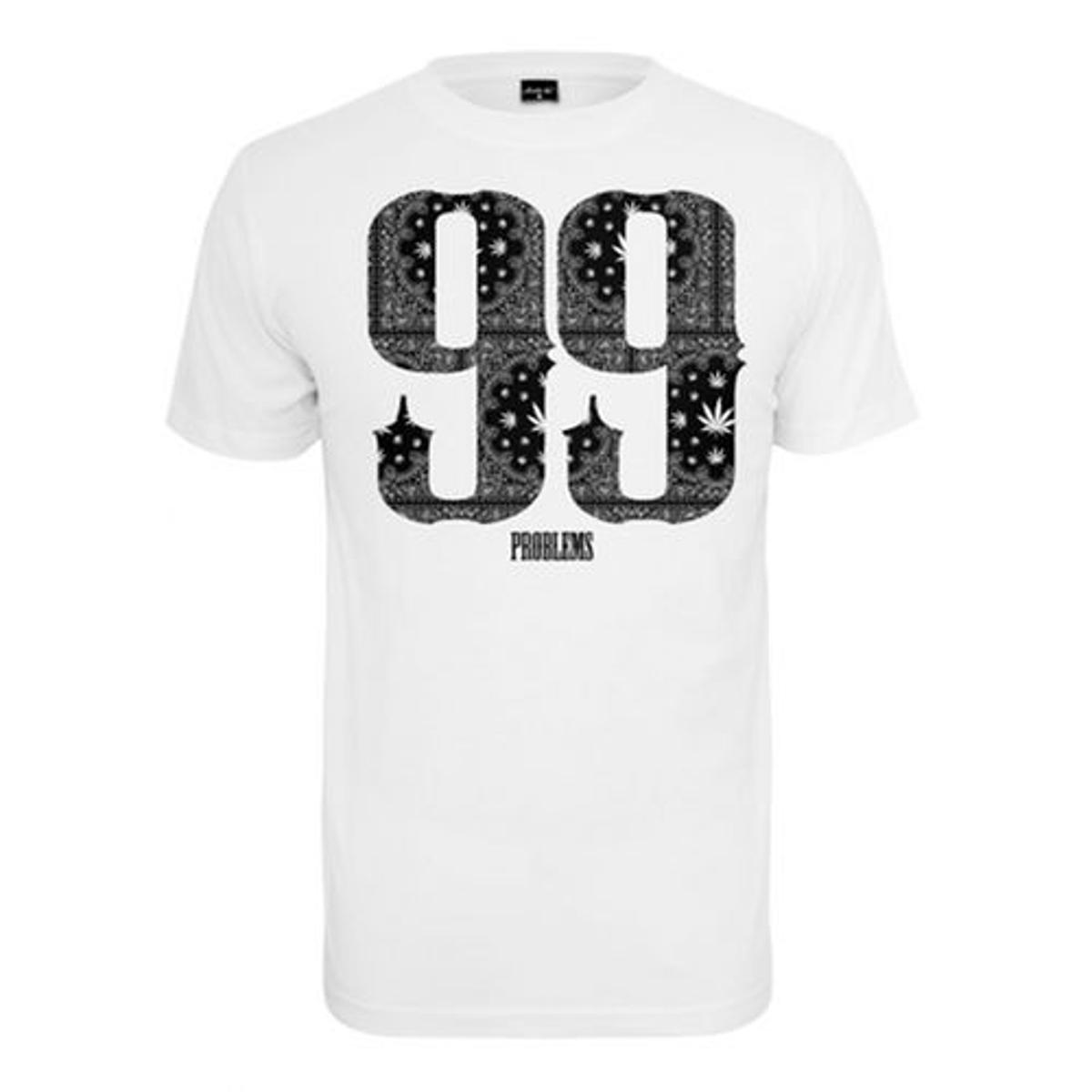T-shirt Mister Tee 99 Problems Bandana Blanc