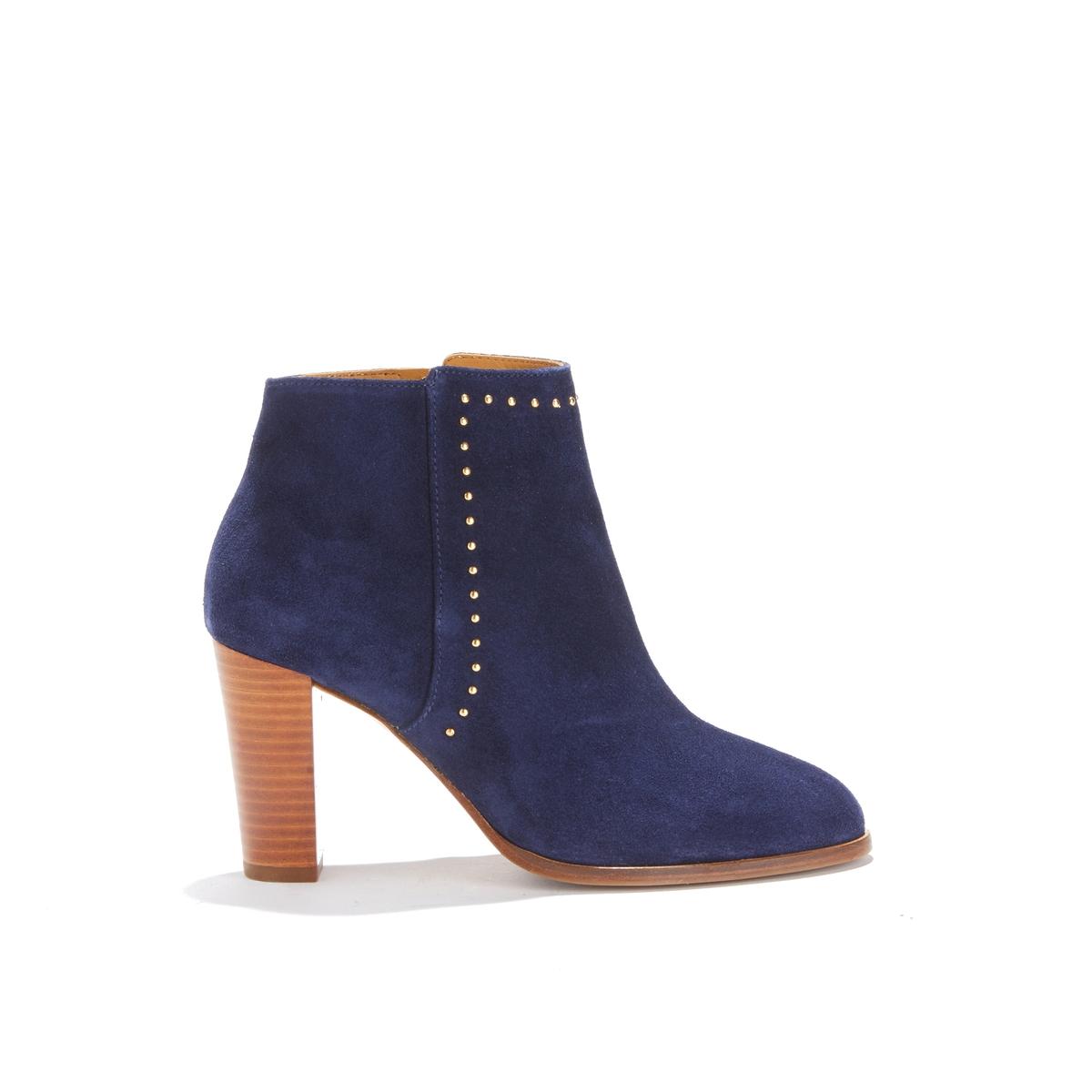 Ботильоны кожаные на высоком каблуке L'ENVOÛTANTE цены онлайн