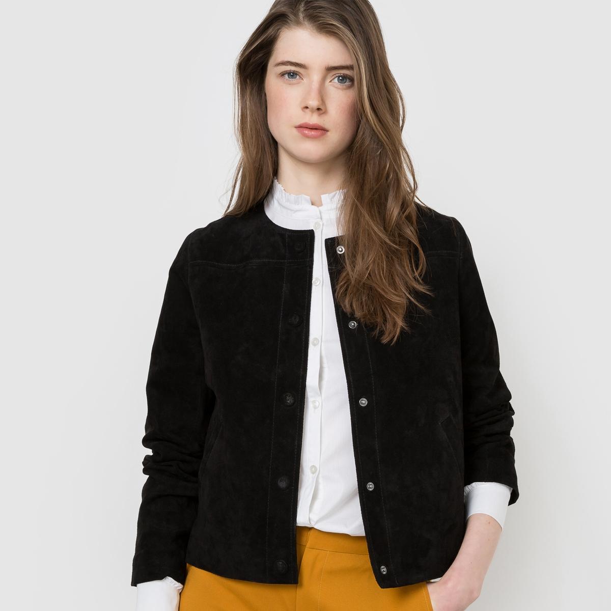 Пиджак из неотделанной кожи