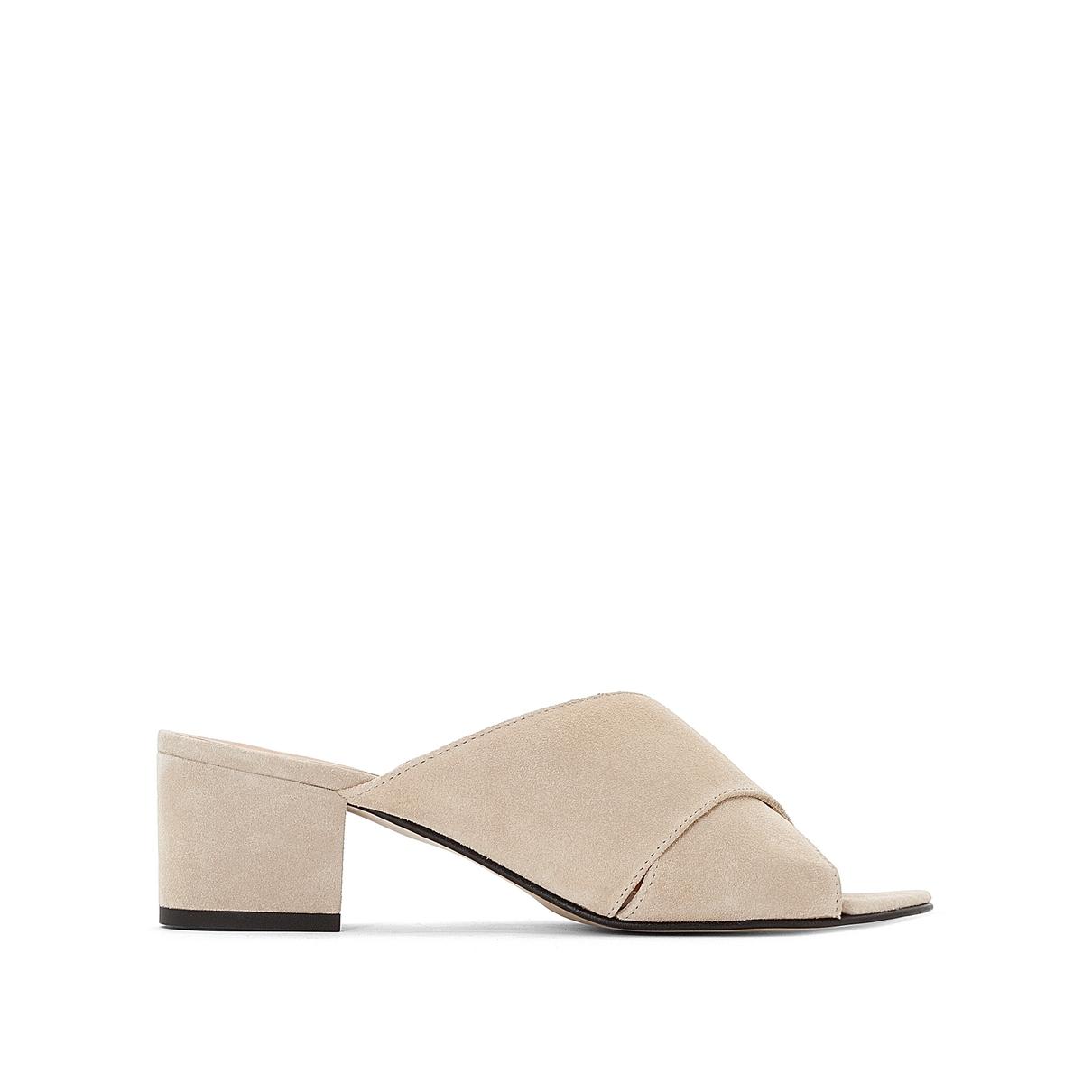 Туфли замшевые без задника на каблуке Franca