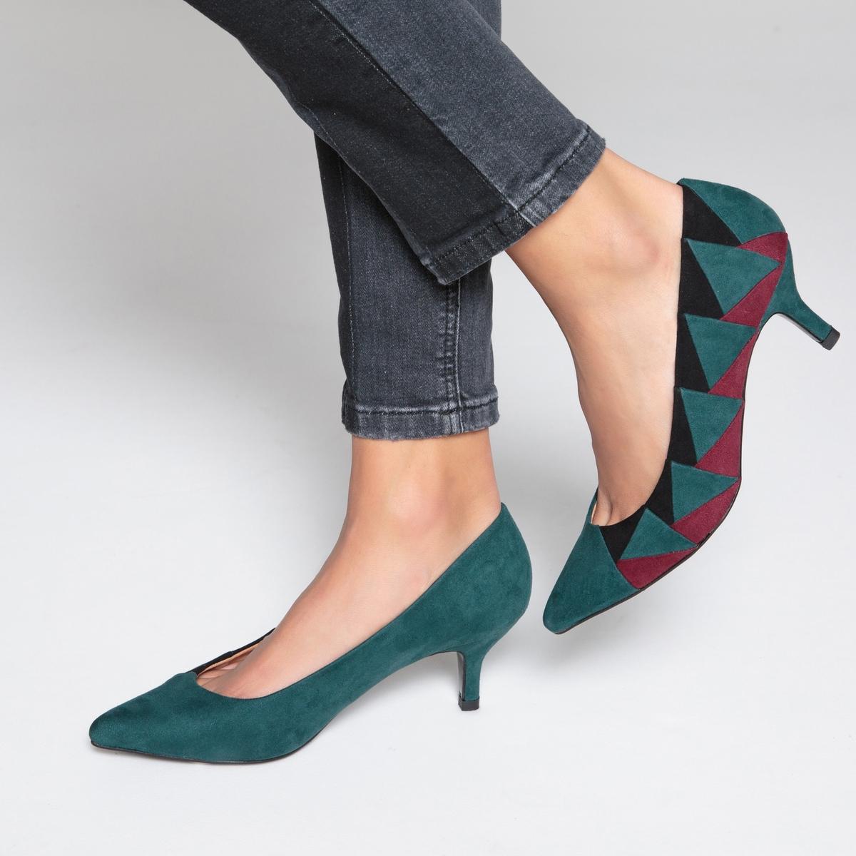 Туфли на каблуке с графичным рисунком туфли la strada туфли на каблуке