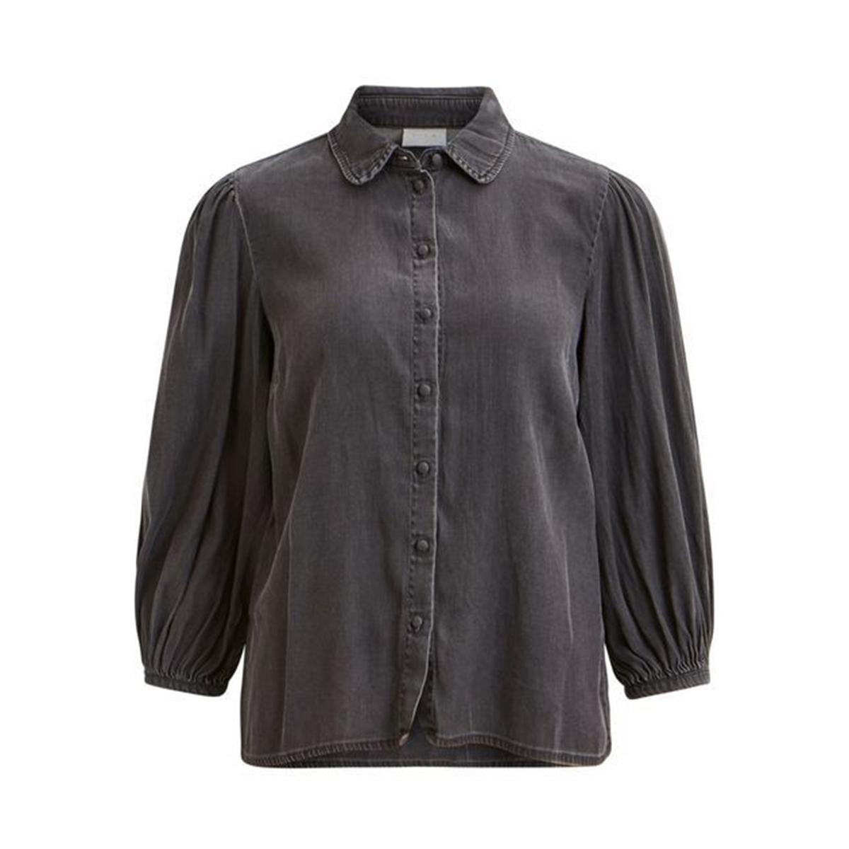 Рубашка из лиоцелла, с отложным воротником и напускными рукавами брюки из лиоцелла и льна