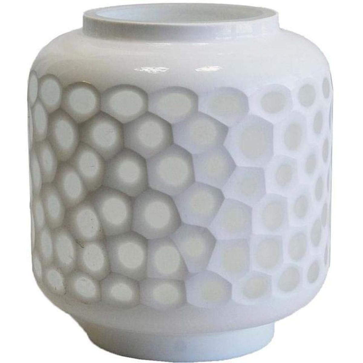 Photophore nid d'abeille en verre teinté