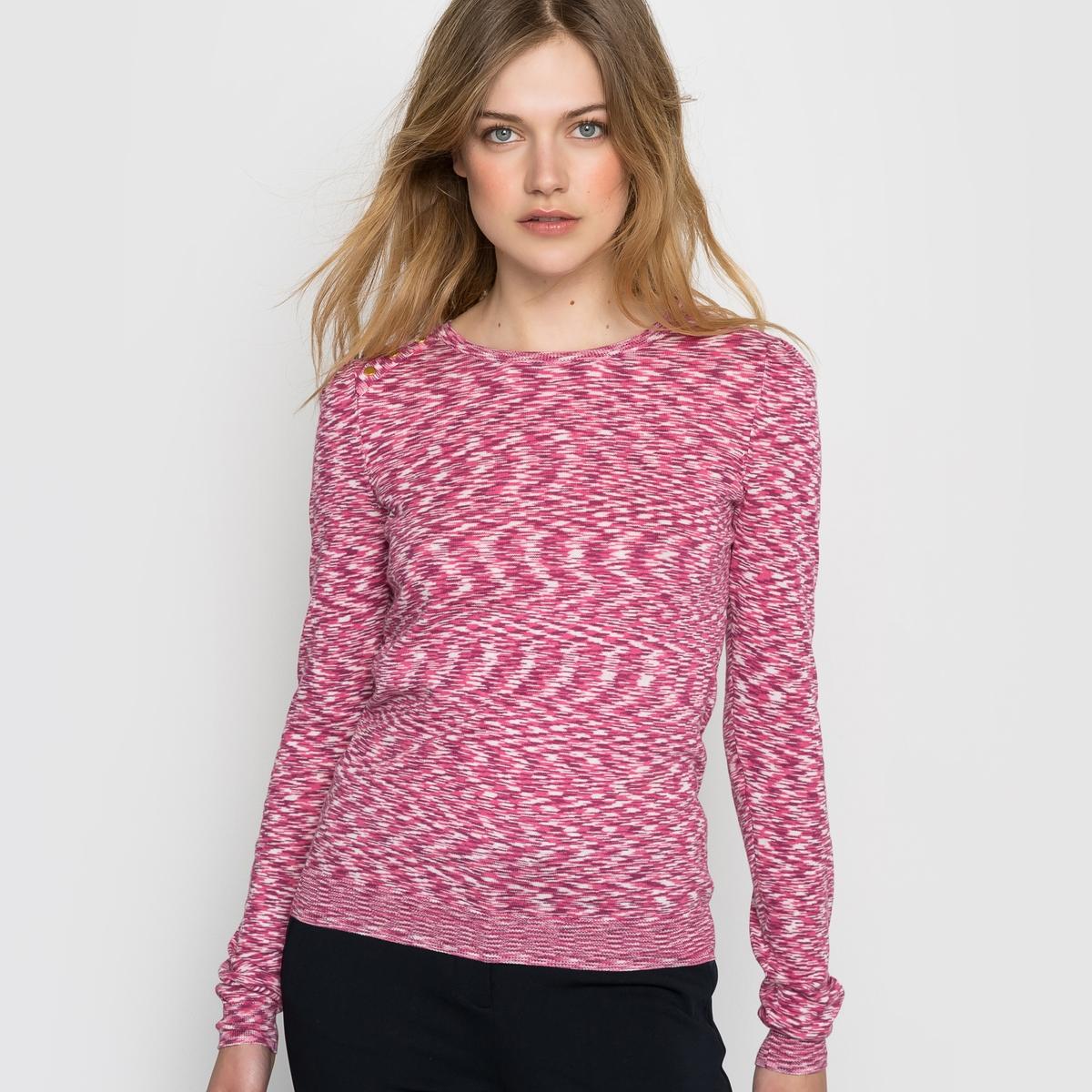 Пуловер из тонкого трикотажаПуловер, 100% хлопка. Необходимая модель для Вашего гардероба. Круглый вырез. Декоративная планка застежки на пуговицы на плече. Верх рукавов со складками. Состав и деталиМатериал: тонкий трикотаж, 100% хлопкаДлина 57 смБренд: Mademoiselle R<br><br>Цвет: красный