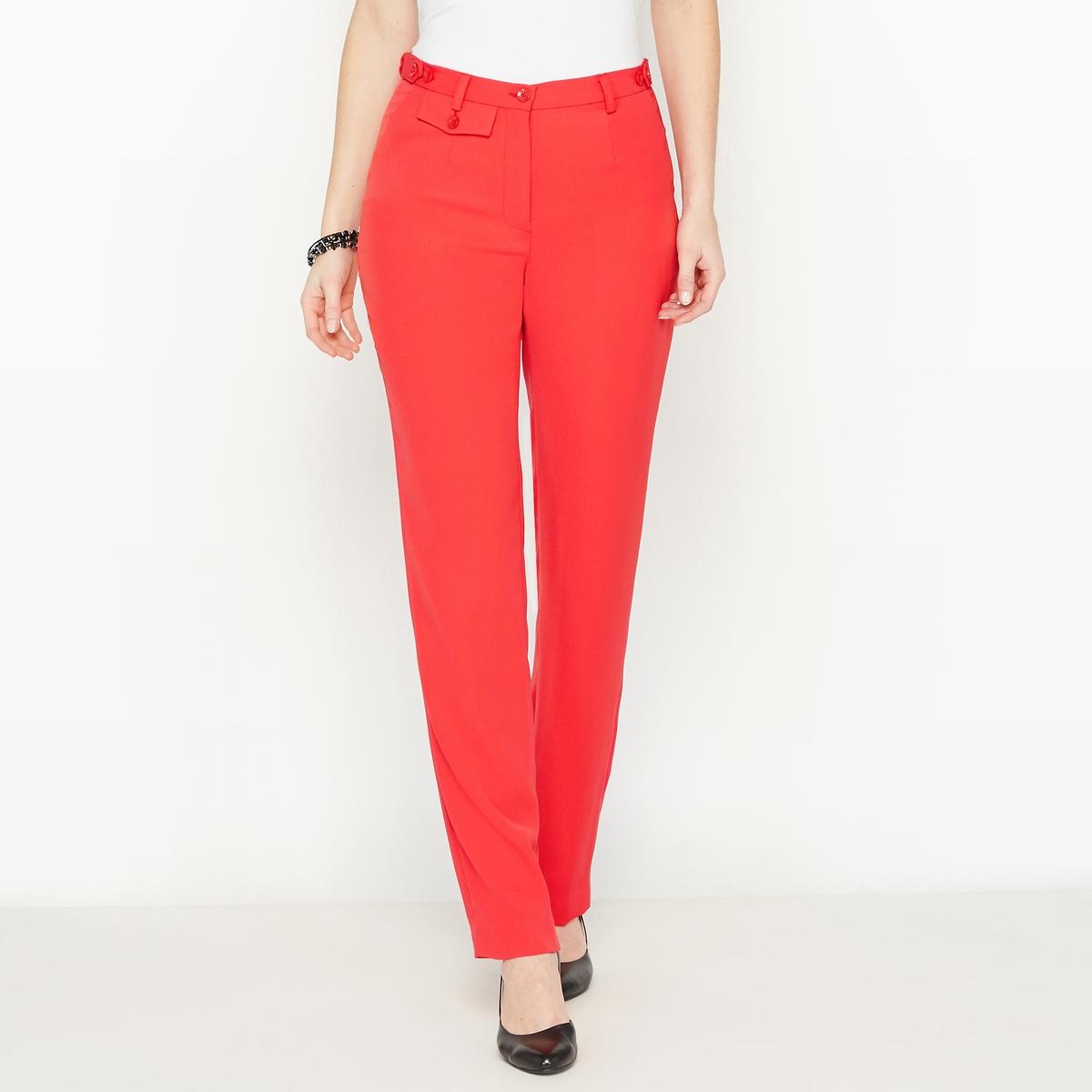 Брюки прямые из саржи стрейч брюки из саржи би стрейч длина по внутр шву 78 см
