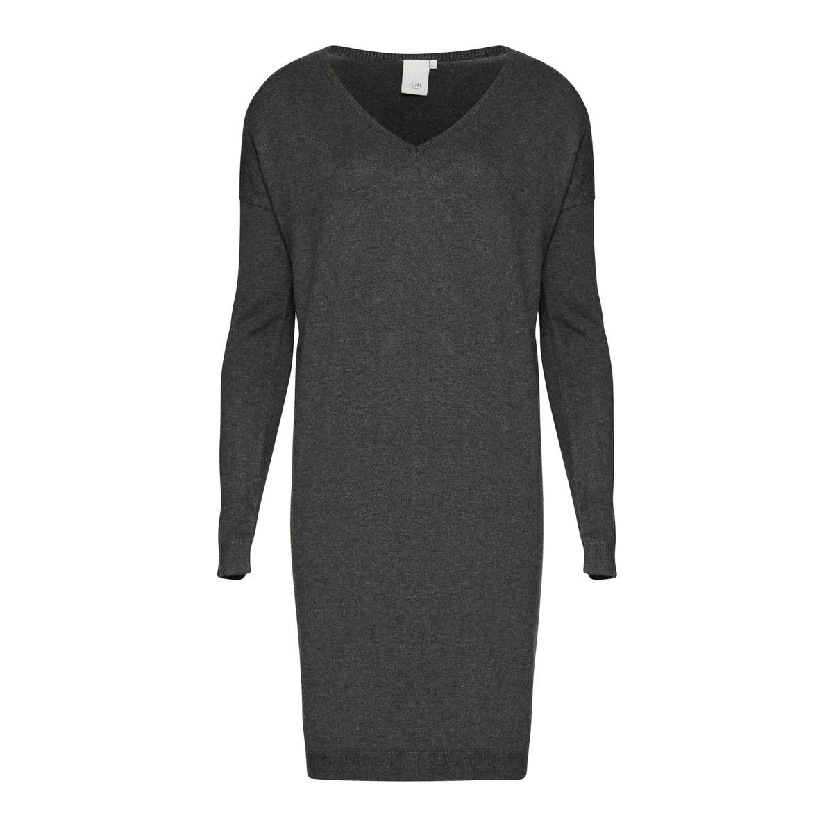 Платье из тонкого трикотажа с V-образным вырезом MAFA DR 5Состав и описаниеМарка: ICHI.Модель: MAFA DR 5.Материалы: 80% вискозы, 20% нейлона.<br><br>Цвет: темно-серый<br>Размер: XS/S