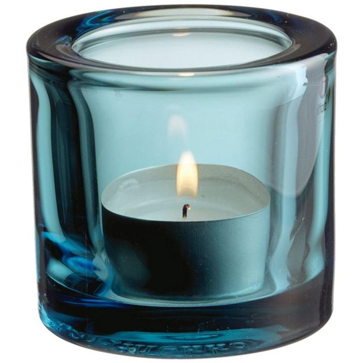 Support à bougie chauffe-plat iittala Kivi- Bleu marine