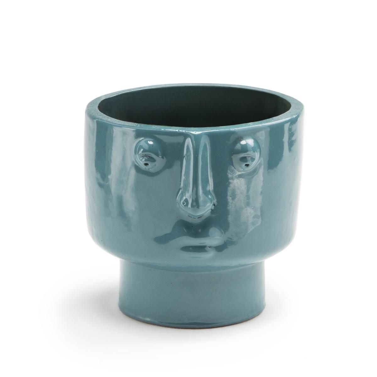 Кашпо La Redoute Из терракоты В см Lesego единый размер синий статуэтка la redoute в форме лица из пластика waraji единый размер черный