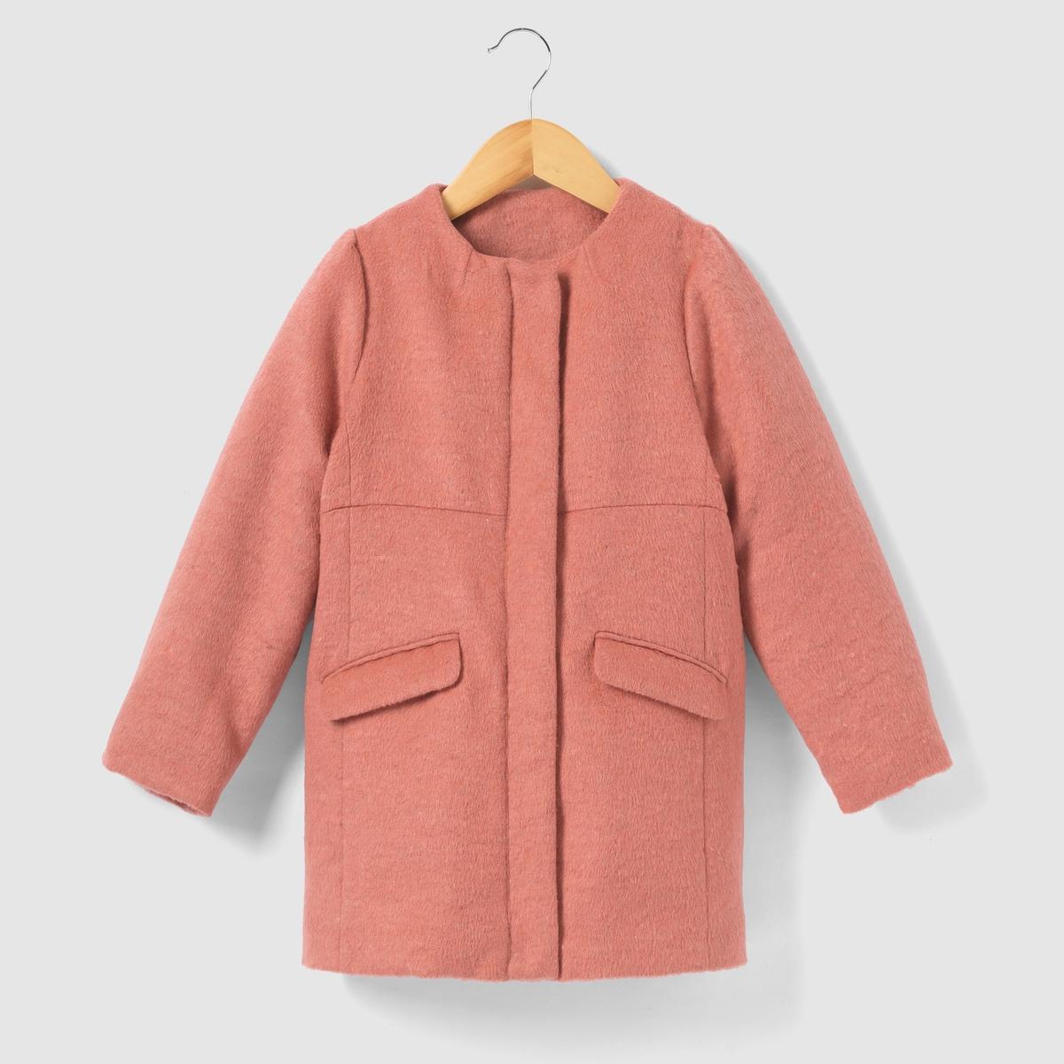 Пальто длинное с эффектом пуалю  3-12 лет