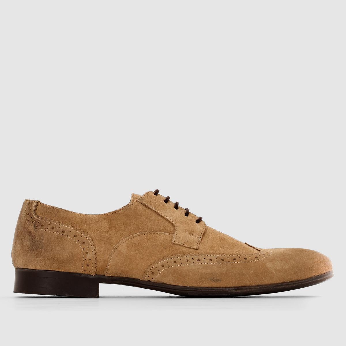 Ботинки-дерби из замши SELECTED LATONБотинки-дерби из замши, на шнуровке, LATON de SELECTED.Верх: замша (яловичная кожа)Подкладка: кожаСтелька: кожаПодошва : каучукЗастежка : шнуровка Замечательная современная модель из натуральной замши, изготовлена в Португалии : Невозможно устоять перед стилем brogue, особенно если это элегантная обувь от Selected !<br><br>Цвет: бежевый,темно-синий<br>Размер: 41.41