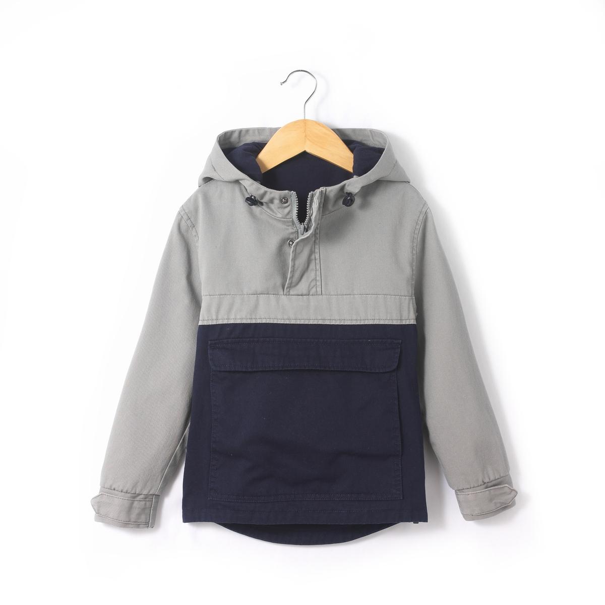 Блузон двухцветный, 3-12 лет блузон с капюшоном с рисунком спереди 3 12 лет