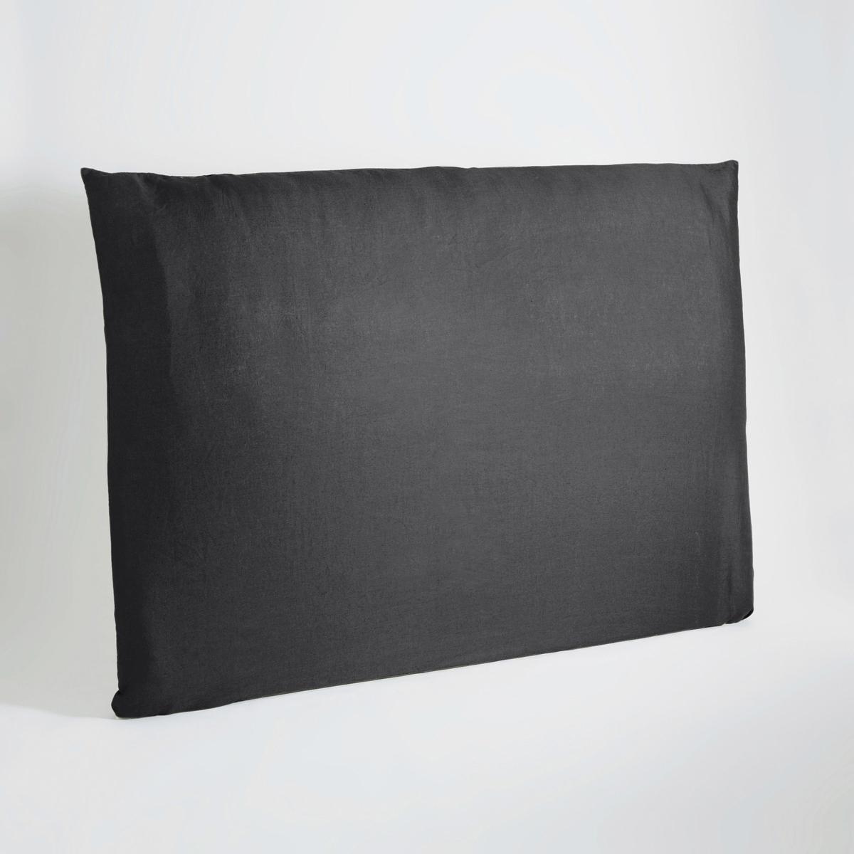 Чехол LaRedoute На изголовье кровати из осветленного льна Mereson 180 см серый чехол laredoute для кровати 100 льна 160 x 200 см белый