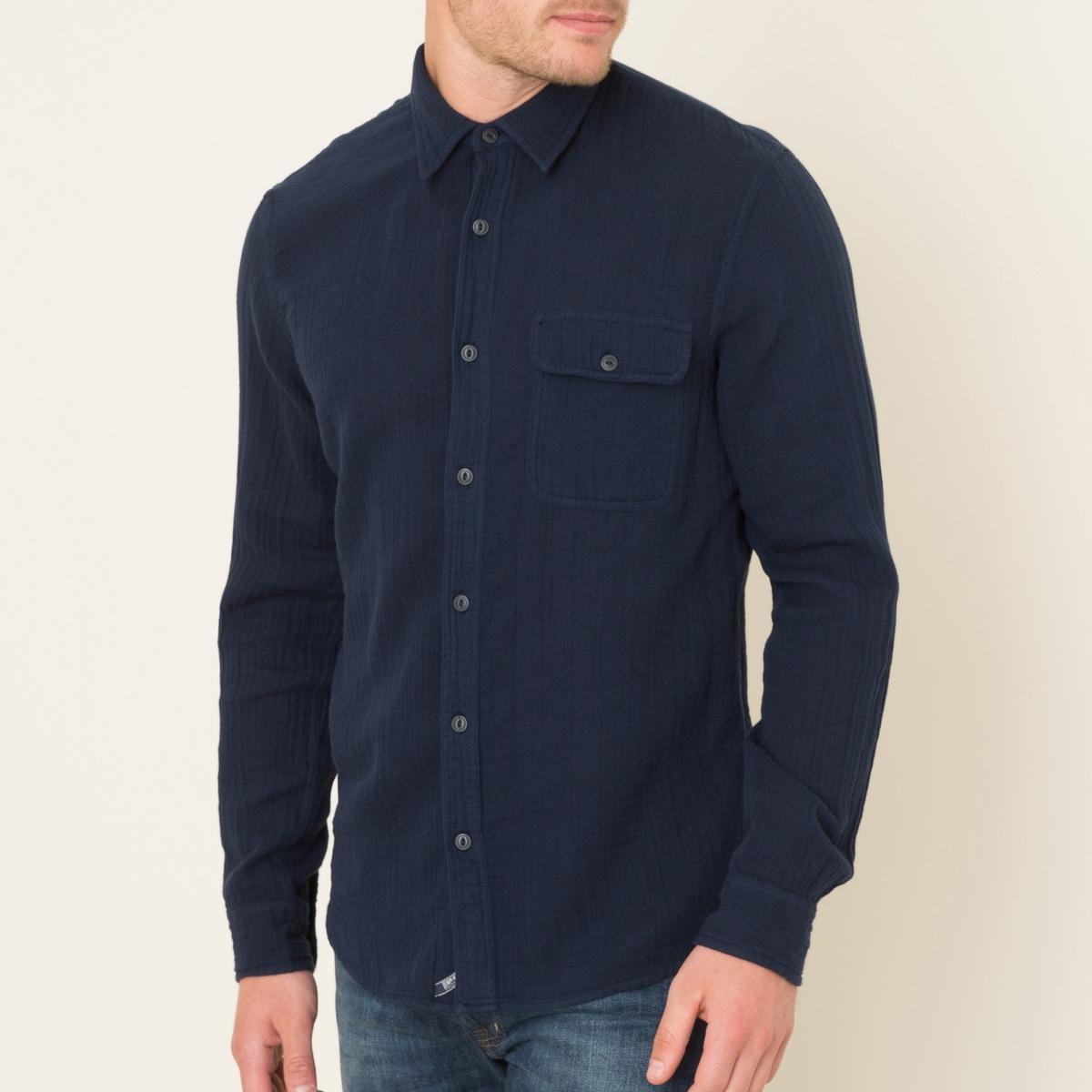 Рубашка из хлопка с плотным переплетением нитейСостав и описание Материал : 100% хлопокМарка : Denim and Supply Ralph Lauren<br><br>Цвет: темно-синий