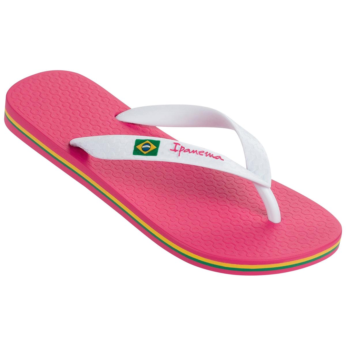 Вьетнамки Classica Brasil IIВерх/Голенище : каучук    Подошва : каучук   Форма каблука : плоский   Мысок : закругленный   Застежка : без застежки<br><br>Цвет: розовый/ белый
