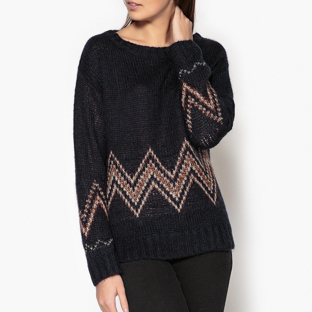 Пуловер с круглым вырезом из трикотажа MADRINA