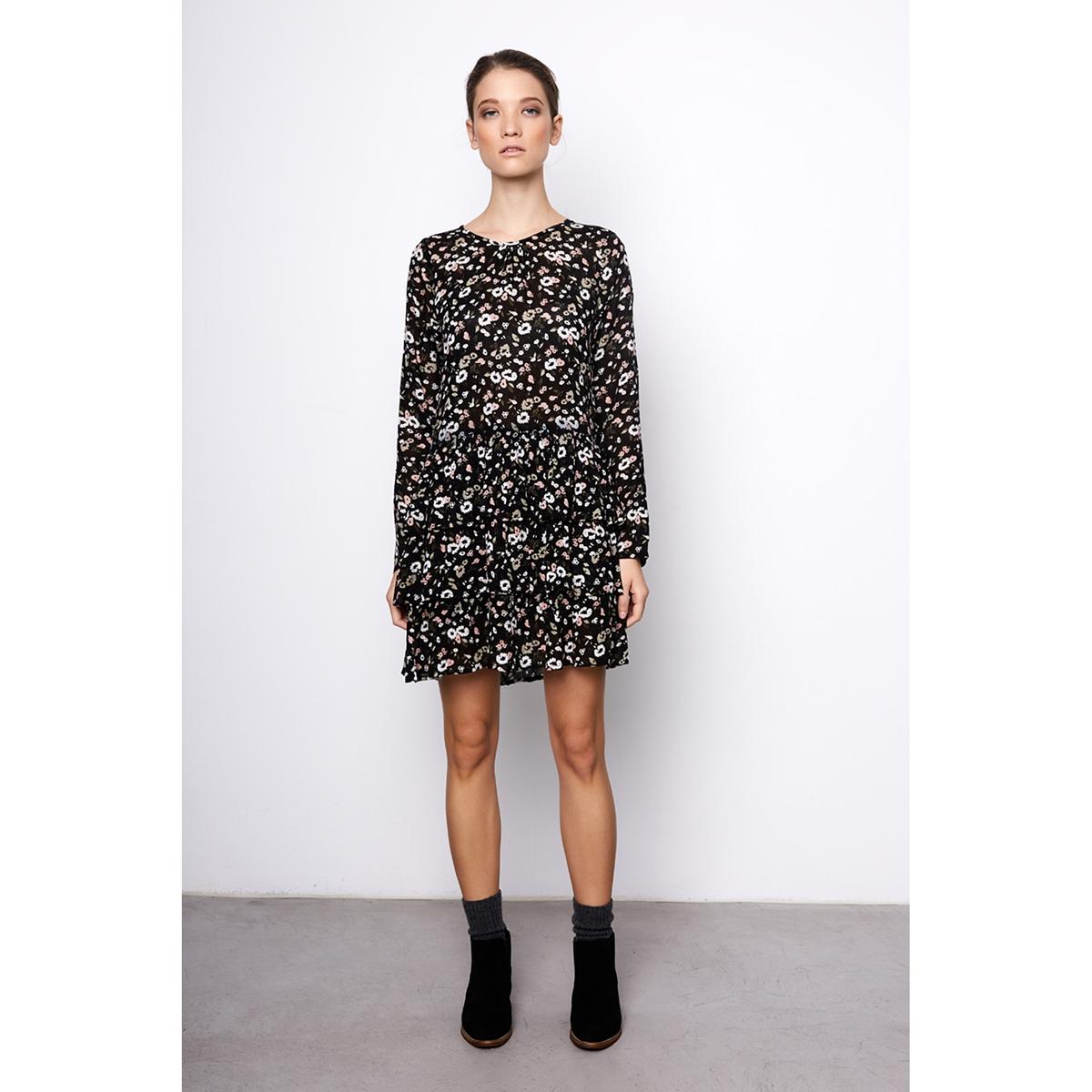 цена Платье расклешенное короткого покроя с рисунком онлайн в 2017 году