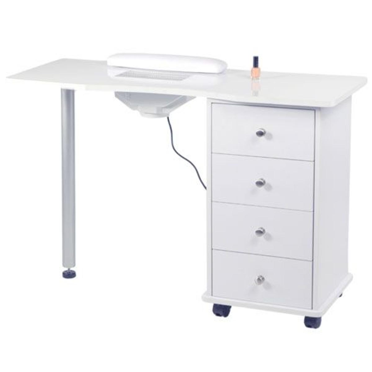 Table manucure avec aspirateur et tiroirs